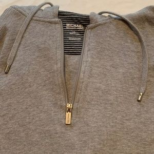 Michael Kors Women's Half Zip Hoodie, Size Large